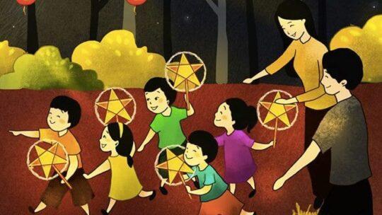 Hướng dẫn vẽ tranh đề tài lễ hội Trung thu đơn giản và đẹp mắt